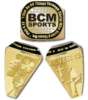 BCM Sports - Phil 4:13 1st Place Gold Ring